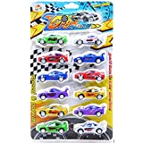 Babytintin Unbreakable ABS Plastic Pull-Back Friction Powered Sport Racing Cars, Automobile Toy Set (Multi-Color) (Set Of 12) (1038) (C)
