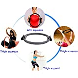 """Flyngo 15"""" Inch Double Handle Pilates Yoga Ring - Exercise Fitness Circle to Burn Fat, Medium Size (Multi-Color Available)"""