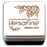 Tsukineko Versafine Small Ink Pads Instant Dry Pigment Ink, Smoky Grey