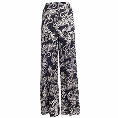Womens Paisley Print Wide Leg Palazzo Pants Parallel Pants. Sizes 8 to 22