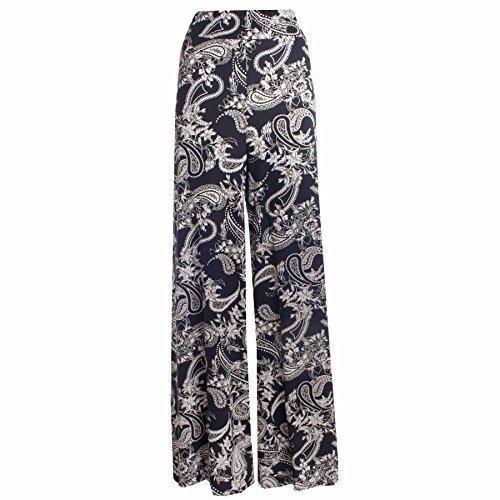 Womens Paisley Print Wide Leg Palazzo Pants Parallel Pants. Sizes 8 to 22