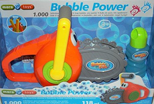 Bavaria Home Style Collection Kettensäge als Seifenblasenmaschine Bubble Maker Spiel und Spass mit Seifenblasen erzeugt automatisch eine große Menge Seifenblasen