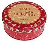 Kulinarischer Adventskalender mit Rezepten: Glühwein, Gans und Butterplätzchen - 24 himmlische Weihnachtsrezepte. In Blechdose mit 24 Karten zum Aufhängen