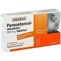 Paracetamol-ratiopharm 250 mg Zäpfchen, 10 St. preisvergleich bei billige-tabletten.eu