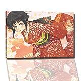 Naruto Manga Bild auf Leinwand - 100x70 cm - fertig gerahmte Kunstdruckbilder als Wandbild - Billiger als Ölbild oder Gemälde - KEIN Poster oder Plakat