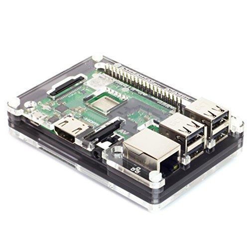 Pibow 3 B+ Coupé (Raspberry Pi 3 B+, 3, & 2) (Coupé Ninja) -
