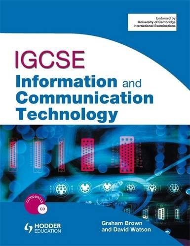 IGCSE information and communication technology. Per le Scuole superiori (Book & CD Rom) por Brown