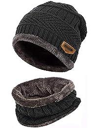 FindaGift Invierno cálido Gorro de Punto Hombres Mujeres Holgados Crochet  Cálido Invierno Lana de Punto Esqui 475b0d99309