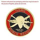 zijianZZJ Gedenkmünze, seltenes Gold plattiert US Marine Corps Core Challenge Gedenkmünze Sammlerstück Geschenk