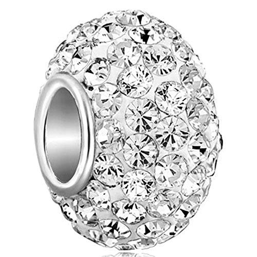 Charmsstory charm in argento Sterling 925jan-dec pietra cristallo per braccialetto e Base, cod. GB_MYSS01_X04