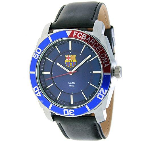 RADIANT Reloj analógico de caballero F.C.BARCELONA – Correa de piel – Azul – BA-11602 Journey