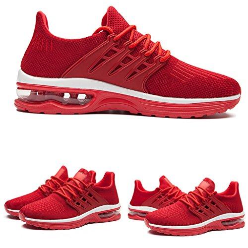 Zapatillas De Deporte Zanyeing Para Hombre Zapatillas De Deporte Ligero Antideslizante Y Transpirable Rojo