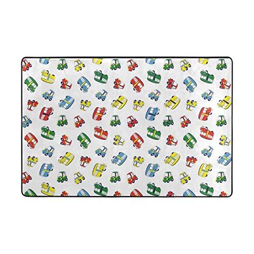 FAJRO Bunte Auto-Fußmatten für Schlamm und Schuhe, Fußabtreter, Verschiedene Muster, Rutschfest, für drinnen und draußen, Polyester, 1, 72 x 48 inch