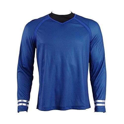 Hohe Trek Star Kostüm Qualität - CosDaddy® Blau Kirk Hemd Uniform Cosplay Kostüm (2XL)