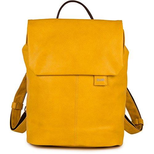 zwei Mademoiselle MR13 Damen-Rucksack 37 cm, yellow (Gelbe Designer-handtasche)