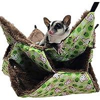 amazingfr Pet Cage Hammock, Hanging Squirrel Sleeping Bag Warm 3-layer Warm Supplies Mezzanine Hammock for Small Pet Hamsters Guinea Pigs Ferrets Rabbits Chinchillas Rats Mice
