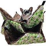TARTIERY Hängen Maus Bett Haustier Etagenbett Hängematte Spielzeug Für Frettchen Hamster Meerschweinchen Chinchilla Papagei Zucker Segelflugzeug Käfig Zubehör Hängematte Warmes Haus