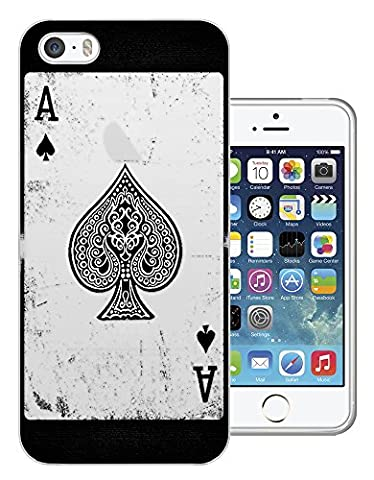 C0581 - Ace Of Spades Playing Cards Casino Poker Black Jack Design iphone 5C Fashion Trend Protecteur Coque Gel Rubber Silicone protection Case Coque