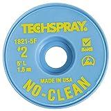 Techspray No-Clean Entlötlitze, 1,4 mm, 1,5 m, gelb