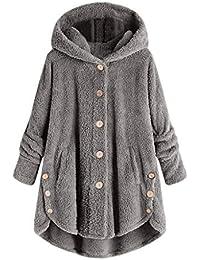 7fba0b32467 Lazzboy Jacket Hoodie Womens Ladies Teddy Sherpa Fluffy Button  Plain Leopard Sweatshirt UK 8-22 Plus Size…