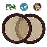 Baker Boutique Silikon-Backmatten-Set, 2-teilig(rund, 22,9cm Durchmesser), antihaftbeschichtet, wiederverwendbare Mehrzweck-Matte