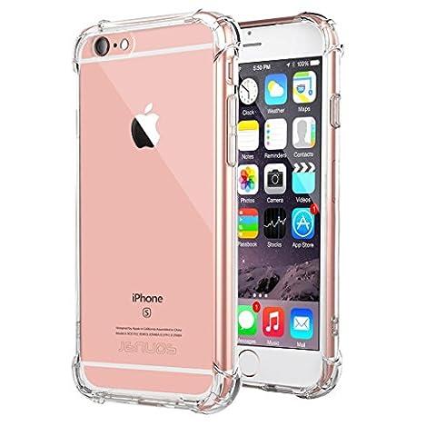 Coque iPhone 6, Jenuos Transparent Doux Souple Extrêmement Fin Housse TPU Silicone Etui pour iPhone 6 / 6S 4.7