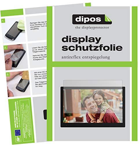 dipos I 2X Schutzfolie matt passend für NIX Advance 17.3 Zoll Widescreen Folie Displayschutzfolie