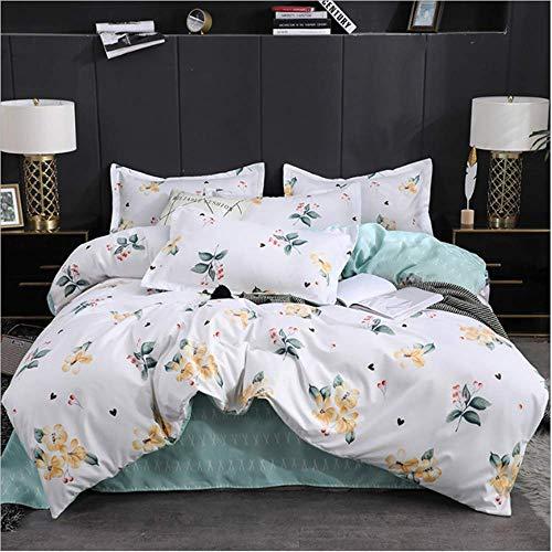 SHJIA Bettwäsche-Sets Aloe Baumwolle Farbe Bettbezug Flach Tröster Set Mit Kissenbezug Heimtextilien C 150x200cm