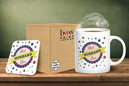 Best Husband Ever tazza e sottobicchiere abbinati–stampato tazza & sottobicchiere set regalo