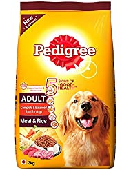 Pedigree Adult with Meat and Rice, 3 kg