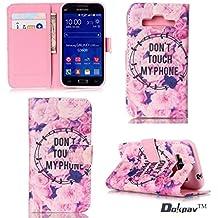 Dokpav® Samsung Galaxy Core Prime SM-G360 Funda,Ultra Slim Delgado Flip PU Cuero Cover Case con Interiores Slip compartimentos para tarjetas-No toque mi teléfono