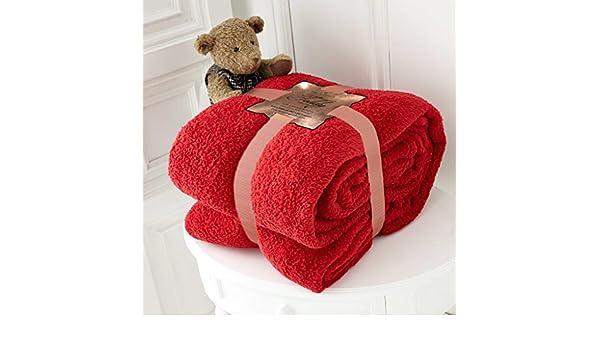 Teddy Throw: 130 X 180 CM @ Nouveau Luxe Ours en Peluche Couvre-lit Canap/é Jet/é de lit Doux et Chaud en Polaire Teddy Bear Plaid Parure de lit Londres Red