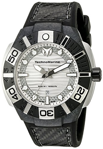 Technomarine Men's TM-514001 Black Reef Analog Display Swiss Quartz Black Watch