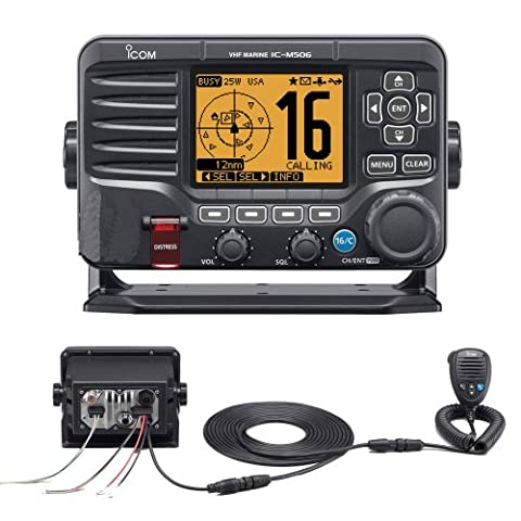 ICOM M506 VHF BLACK N2K/AIS REAR MIC RADIO