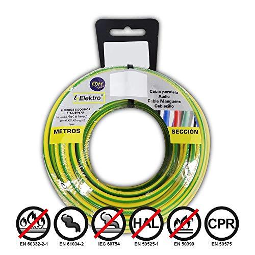 Angelrolle cablecillo flexibel 4mm Bicolor 25mts. libre-halogeno