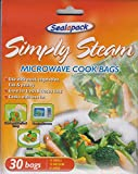 30X Microwave cook simply steam bags veg...