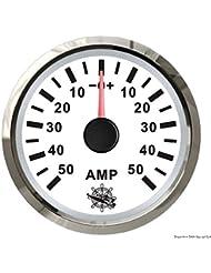 Ampèremètre avec shunt 50 A blanc/polie