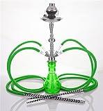 4 Manguera 58 cm Hookah Shisha Narguile agua tubo vidrio fumar venta H-1425