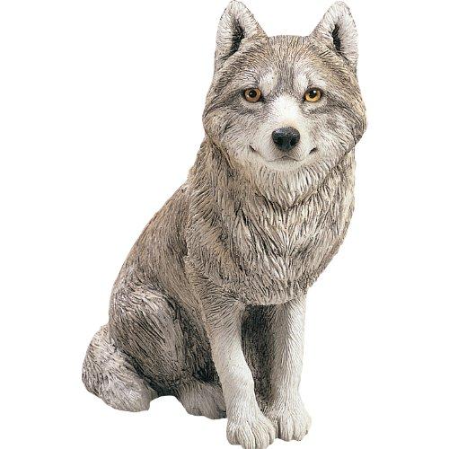 Sandicast Große Life Größe Gray Wolf Skulptur, grau, Original Size