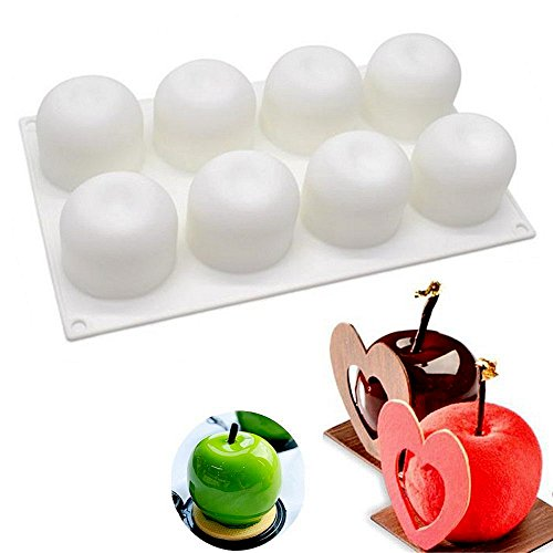 Silikon Kuchen-Apple Form Cupcake-Form Dessert Mousse Fondant Schokolade Silikon Apple