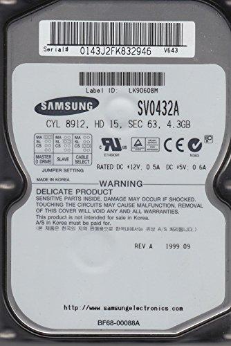4.3 Gb Festplatte (SV0432A, SV0432A, V643, Samsung 4.3GB IDE 3.5 Festplatte)