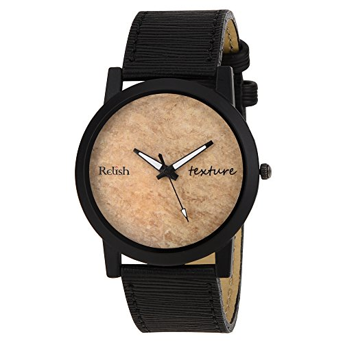 RELISH RE-S8070BB Black Slim Analog Watches for Men\'s and Boy\'s