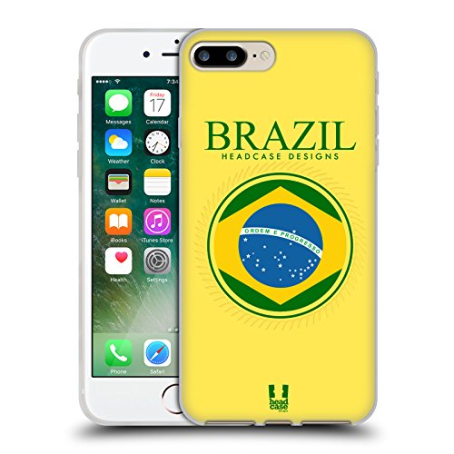 Head Case Designs Bandiera Albanese Bandiere E Toppe Cover Morbida In Gel Per Apple iPhone 7 / iPhone 8 Bandiera Brasiliana