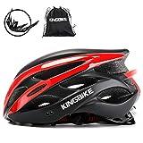 KING BIKE Fahrradhelm Helm Bike Fahrrad Radhelm FüR Herren Damen Helmet Auf Die Helme Sportartikel Fahrradhelme GmbH RennräDer Mountain Schale Mountainbike MTB (Schwarz Rot, L(56-60CM))