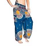 Mienloco Haremshose Pumphose Aladinhose Pluderhose Baggy Goa Ballon Yoga Hose (P10)