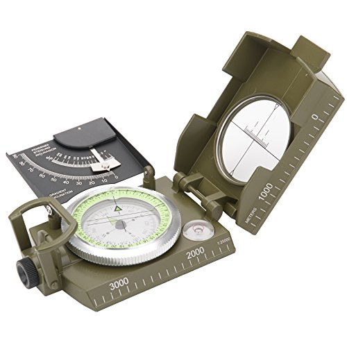 Baytter BW Marschkompass Bundeswehr Militär Kompass Militärkompass für Outdoor Camping Wandern Trekking