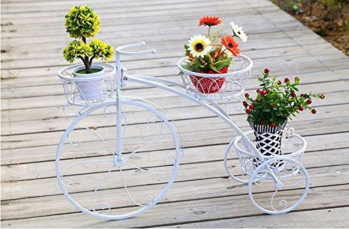 Ensemble de fleurs en fer à plusieurs étages, cadre de fleur, châssis, châssis, châssis, style européen, créatif, étagère, étagère, salon, pot de fleurs ( Couleur : Blanc , taille : 60*22*44cm )