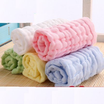 Treasure-house 5-pack b�b� Gants de Toilette Serviettes de bain de b�b� Blanc