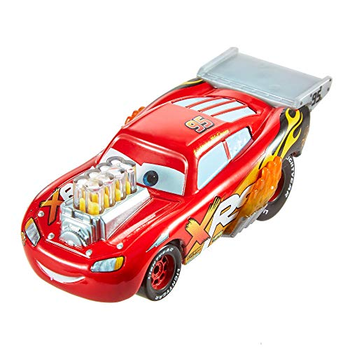 Disney Cars GFV34 - Xtreme Racing Serie Dragster-Rennen Die-Cast Lightning McQueen (Toy Racing Car)