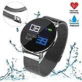 Rastreador de ejercicios, Reloj inteligente actividad bluetooth Reloj pulsera con monitor de ritmo cardíaco y.